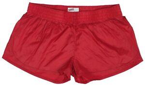 Red-Shiny-Short-Nylon-Shorts-by-Soffe-Size-Medium