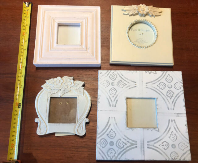Lot of 4 shabby cottage chic picture frames