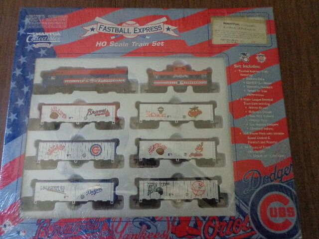 MANTUA  MLB FAST BALL  EXPRESS READY-TO-RUN TRAIN SET LIMITED  776 OF 2000