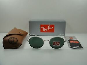 dac9113bf073a RAY-BAN BEAT SUNGLASSES RB3594 911671 SILVER FRAME GREEN CLASSIC ...