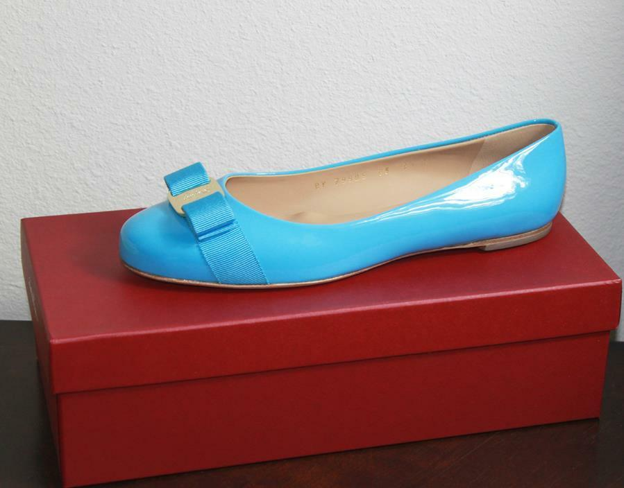AUTH Salvatore Ferragamo Women Varina Flat Shoes Shoes Shoes 6B 216f18
