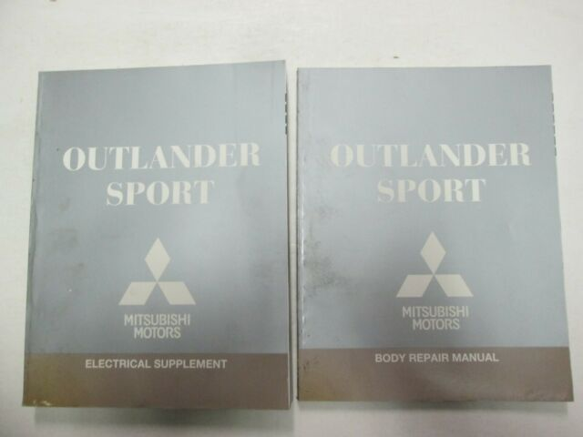 2011 Mitsubishi Outlander Sport Body And Electrical Supplement Manual Set