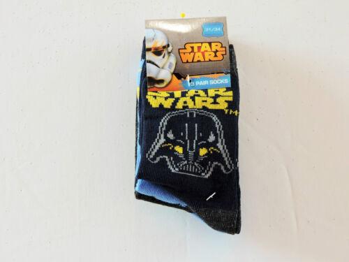 UK 9 jusqu/' à 5 euro 27-38 bleu Disney Star Wars The Clone Wars 3 Pack Chaussettes