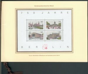 Berlin-Official-commemoration-Journal-750-Years-Berlin-with-Block-8-772-775-and-776