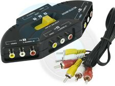 3 Port AV Composite with Audio RCA Phono Selector Switch