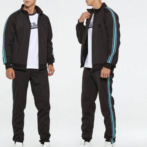 Men Stretchy Trousers Hooded Coat Jacket Pants Jogging Sports Tracksuit 2PCS Set