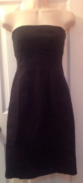 Forever 21 Strapless Black Dress Size Small, Knee-Length, Cotton Blend