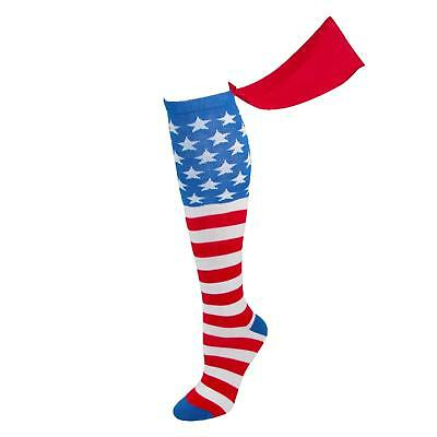 Generic American Flag Knee High Cape Socks USA Independence Day July 4th