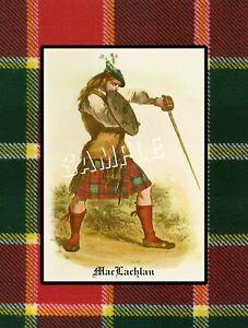 SCOTTISH CLAN MACLACHLAN CANVAS ART PRINT SCOTLAND KILT