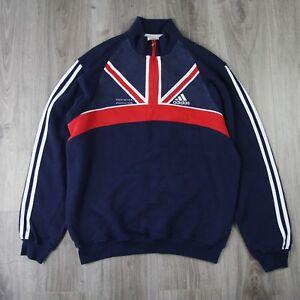 Mens-Vintage-Adidas-1-2-Zip-GB-Athletics-Track-Tracksuit-Top-Pullover-Jumper-M