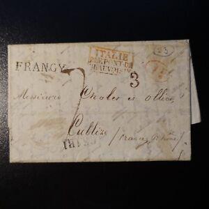 1836-LETTRE-COVER-MARQUE-POSTALE-FRANGY-ITALIE-PAR-LE-PONT-DE-BEAUVOISIN