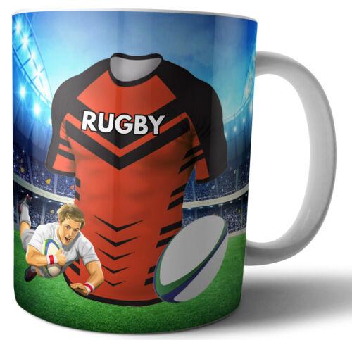 Birthday Stocking Filler Castleford Tigers Rugby Themed Mug Christmas