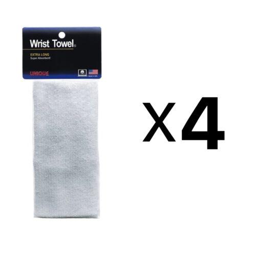 4-Pack Unique Sports Poignet Serviette Extra-long absorbant non-allergène blanc