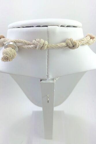 "18 inches Hemp Necklace w Marijuana Leaf Charm Surfer Style Adjustable 14/"""