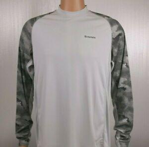 SIMMS-SolarFlex-Long-Sleeve-Crewneck-Shirt-Hex-Camo-Sterling-M-L-XL-2XL-3XL