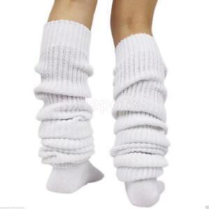 Women-Girls-Bubble-Loose-Leg-Warmer-Slouch-Socks-Japanese-Style-White-23-034