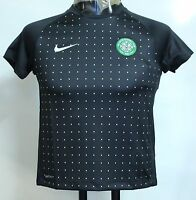 CELTIC F.C S/S BLACK TRAINING  SHIRT BY NIKE SIZE EXTRA SMALL BOYS BRAND NEW