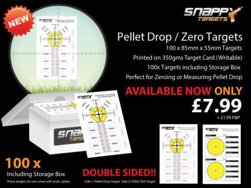 100 X Pellet Drop et concentrait cibles-Air fusil//pistolet à air-Snappy cibles