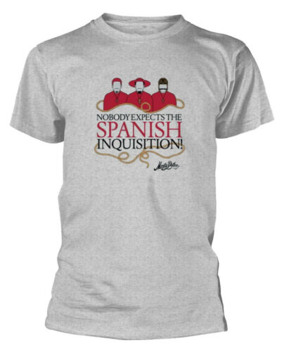 Grey NEW /& OFFICIAL! Monty Python /'Spanish Inquisition/' T-Shirt