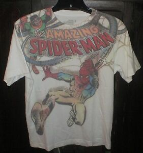 3b3921256f2 Old Navy Amazing Spider-Man Boys XL Size 14 T-Shirt White Distressed ...