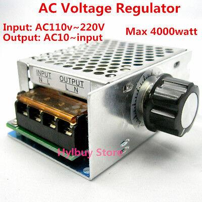 AC 110V~220V SCR Voltage Regulator adjust Motor Speed Control Dimmer Thermostat