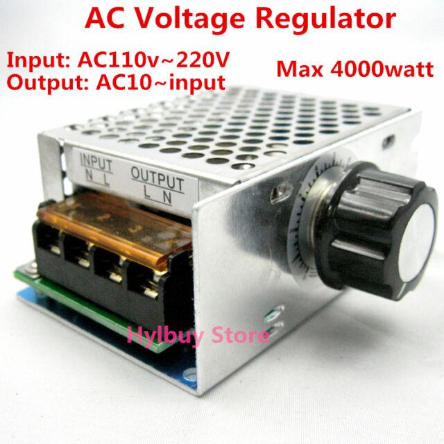AC 110V~220V SCR Voltage Regulator adjuster Motor Controller Dimmer Thermostat