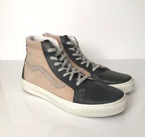 e5c012901b Vans Vault Italy Leather Montebelluna Hi LX Navy Tan Off White VN ...