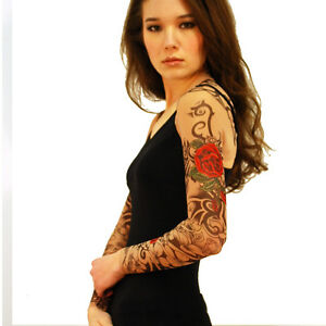 Wild rose ladies tattoo shrug shirt sexy mesh long sleeve for Mesh tattoo shirt