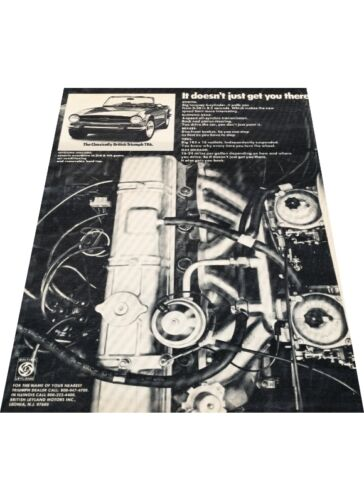 1974 Triumph TR-6 TR6 Vintage Advertisement Car Print Ad J397