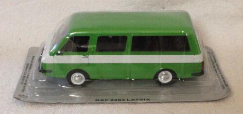 RAF 2203 Latvia autobús verde blister 1:43 Ixo//ALT maqueta de coche