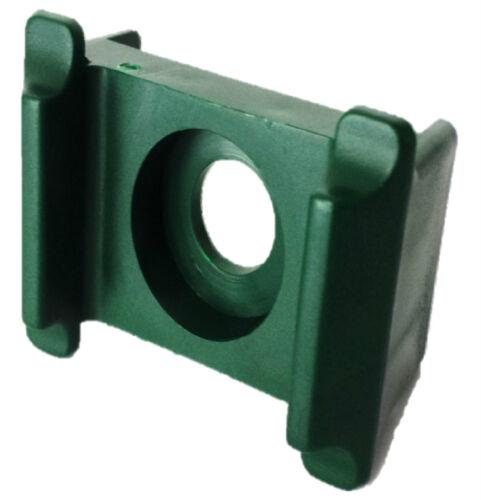 25 Stück Zaunbau Pfostenklammer grün Doppelsteg Klammer Stabmattenmontage