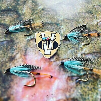 8,10,12,14 3 Teal Blue /& Silver Seatrout//Salmon /& Trout Fishing Flies Sizes 6
