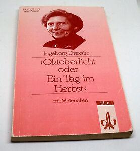 Taschenbuch-Oktoberlicht-oder-Ein-Tag-im-Herbst-Ingeborg-Drewitz