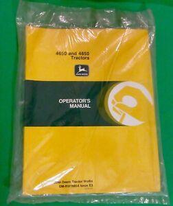 John-Deere-4650-amp-4850-Tractor-Operator-039-s-Manual-OM-RW16854-Issue-E3-Sealed