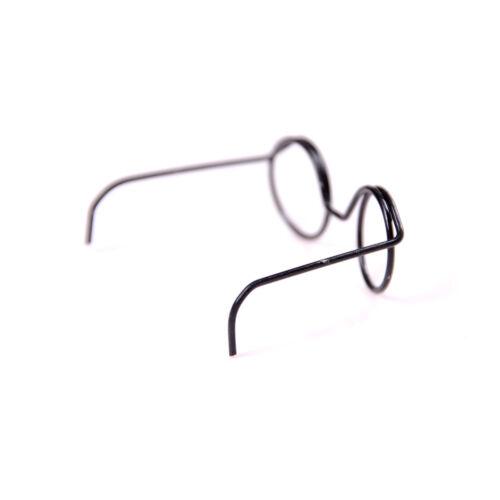 6X Round Frame Lensless Retro classici occhiali da bambola per bambole BJD da