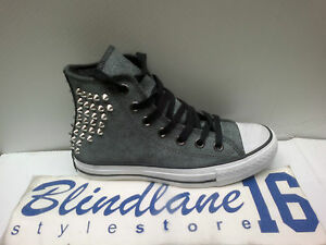 151 CONVERSE SCARPA DONNA CT AS HI SUEDE STUDS COLORE BLACK CODICE 540222C