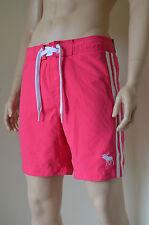 Abercrombie & Fitch Beaver Meadows Swim Board Shorts Pink Stripe L RRP £58