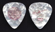 Madonna White Pearl Red Foil Signature Guitar Pick 2006 Tour