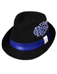 5c8f8cc51c052 PHI BETA SIGMA FRATERNITY FEDORA DRESS STYLE HAT GOMAB 1914 BLUE PHI ...