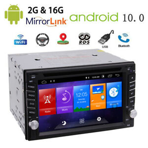 6 2 Android 10 0 Double 2 Din Car Radio Stereo Dvd Player Gps Bluetooth Dab Obd Ebay