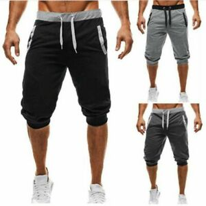 Men-039-s-Summer-3-4-Knee-Casual-Jogger-Sports-Shorts-Baggy-Gym-Harem-Pants-Trousers