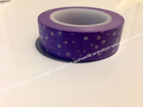 Japanese Washi Tape 15mmx10m Purple White Winter Snow Cold #W1855