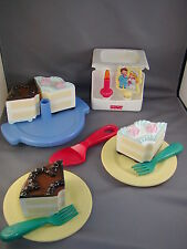 Fisher Price Fun Food kitchen 2 in 1 birthday wedding chocolate cake musical set