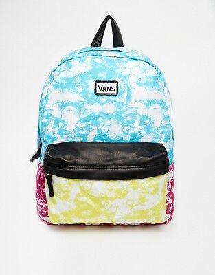 New Vans Womens Deana II Multi-Color Tie Dye Print Backpack Book Travel Bag New