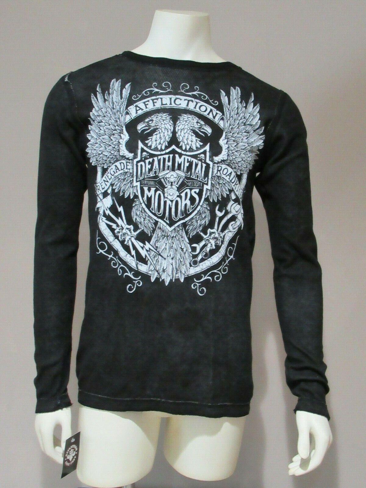 Affliction Live Fast Death Metal Motors Mens Reversible Long Sleeve Shirt