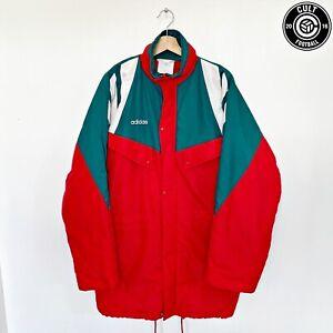 1992/93 LIVERPOOL Style Vintage adidas Football Bench Coat Jacket (L) 42/44