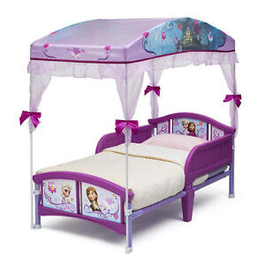 Stock photo  sc 1 st  eBay & Toddler Canopy Bed Disney Frozen Sleep Girls Princess Daughter ...