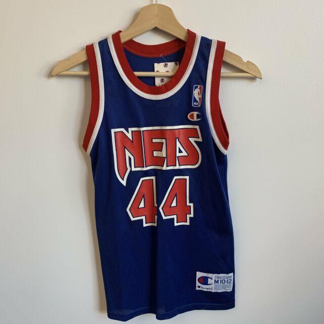 Vtg NBA Champion Derrick Coleman Nets Basketball Jersey Youth Small 6-8 Toddler
