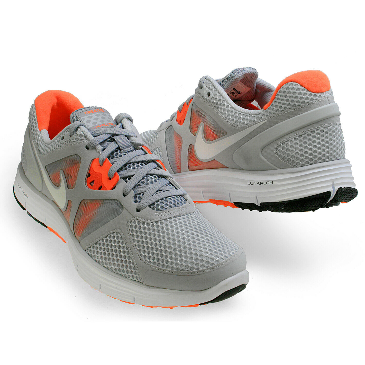 Nike Lunarglide 3 Breathe Grey & orange Men SZ 7.5 - 9 50% OFF