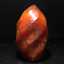 Natural-carnelian-flame-Shape-Quartz-Crystal-agate-torch-specimen-Healing-200g thumbnail 9